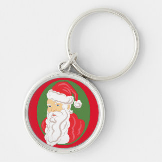 Porte-clés Camée du père noël de Noël