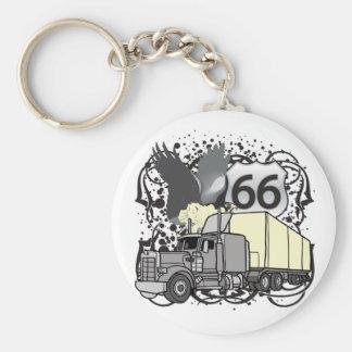 Porte-clés Camionneur de l'itinéraire 66