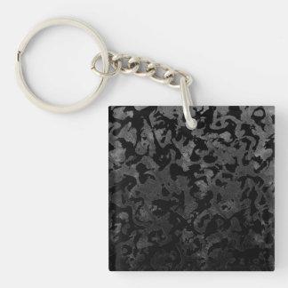 Porte-clés Camouflage gris noir et foncé de Camo moderne -