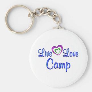 Porte-clés Camp vivant d'amour