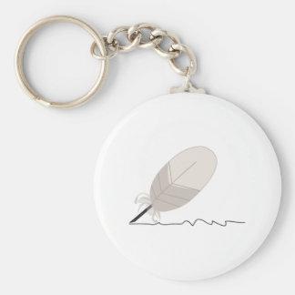 Porte-clés Cannette de plume