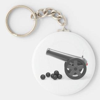 Porte-clés Canon avec les bombes noires