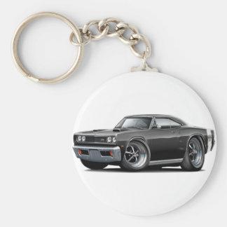 Porte-clés Capot superbe de scoop de double de noir de
