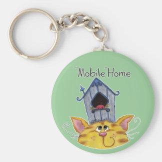 Porte-clés Caravane résidentielle de Chambre de chat et