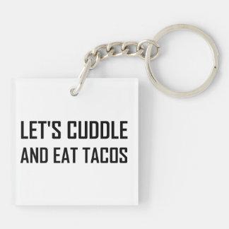 Porte-clés Caressez et mangez les tacos