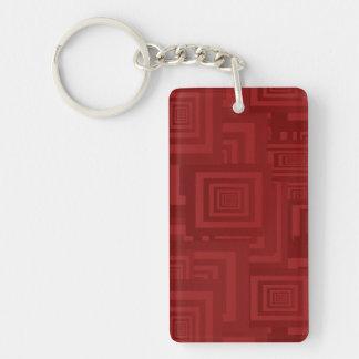 Porte-clés Carrés marron