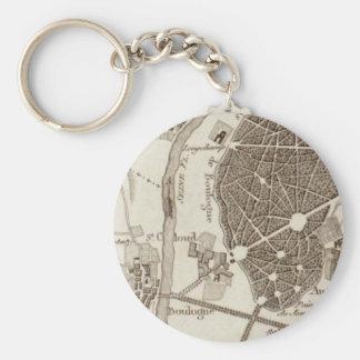 Porte-clés Carte antique de Paris