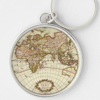 Porte-clés Carte antique du monde, C. 1680. Par Frederick de