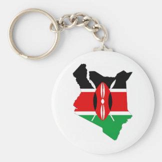Porte-clés carte de drapeau de pays du Kenya