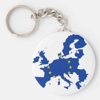 Porte-clés Carte de drapeau d'Union européenne