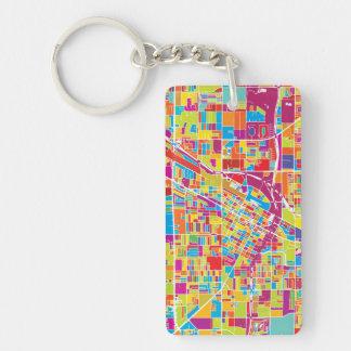Porte-clés Carte de Las Vegas coloré, Nevada