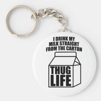 Porte-clés Carton de lait de la vie de voyou