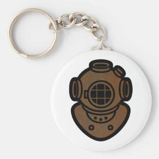 Porte-clés Casque en laiton de plongée