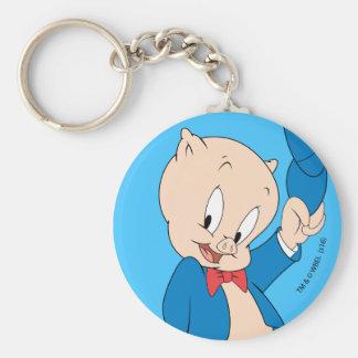 Porte-clés Casquette de ondulation gros du porc |