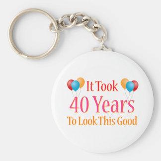 Porte-clés Cela a pris 40 ans pour regarder ceci bon