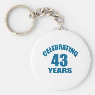 Porte-clés Célébrant 43 ans de conceptions d'anniversaire