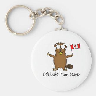 Porte-clés Célébrez votre porte - clé de castor