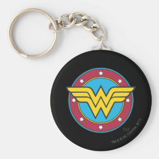 Porte-clés Cercle de la femme de merveille | et logo