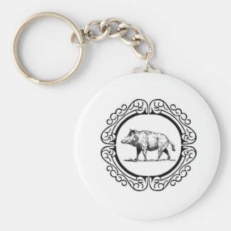 Porte-clés cercle de marche de porc