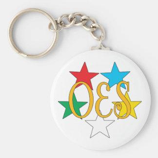 Porte-clés Cercle d'OES de porte - clé d'étoiles