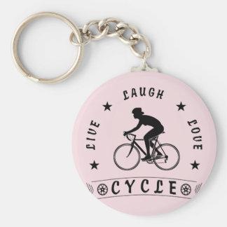Porte-clés Cercle femelle COURU par amour vivant de rire