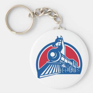 Porte-clés Cercle locomotif de cheval de fer rétro