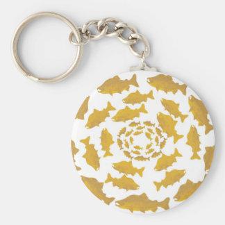 Porte-clés Cercle saumoné d'or