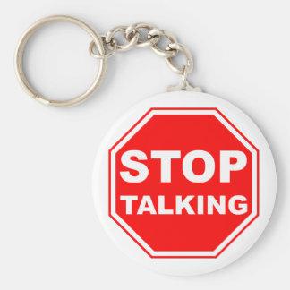 Porte-clés Cessez de parler le signe