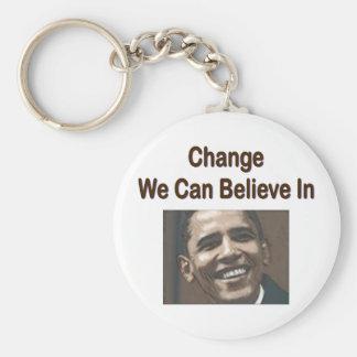 """Porte-clés """"Changez-nous peut croire"""" au porte - clé"""