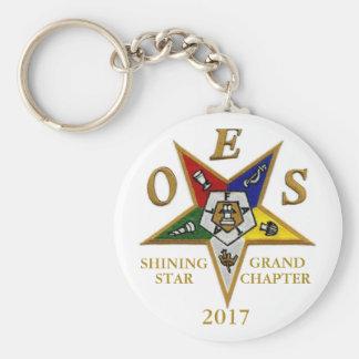 Porte-clés Chapitre grand 2017 d'étoile brillante