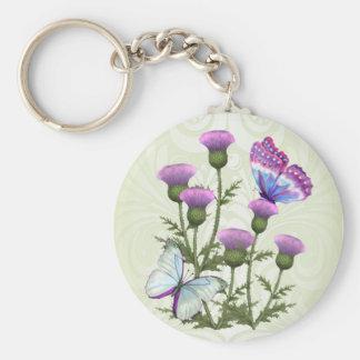 Porte-clés Chardons et papillons