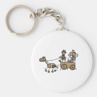 Porte-clés Chariot hippomobile pour des mariages