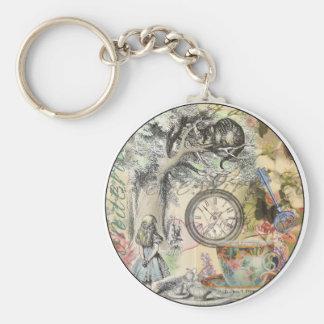 Porte-clés Chat Alice de Cheshire au pays des merveilles