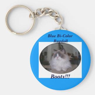 Porte-clés Chat bicolore bleu de Ragdoll