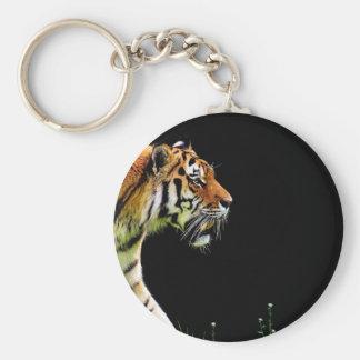 Porte-clés Chat dangereux de fourrure prédatrice de tigre