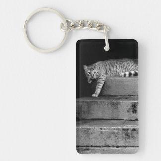 Porte-clés Chat égaré sur des escaliers