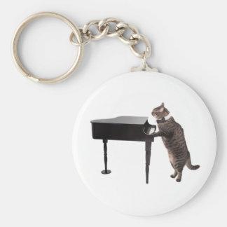 Porte-clés Chat jouant le piano