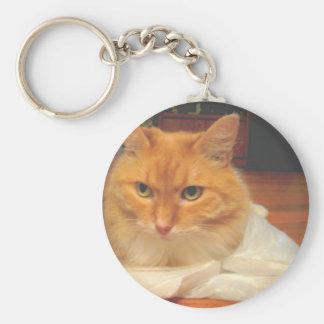 Porte-clés Chat tigré orange