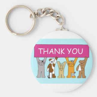 Porte-clés Chats dans des bandages, grâce au vétérinaire