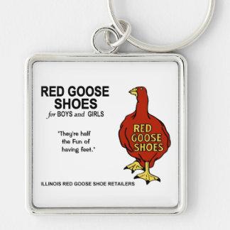 Porte-clés Chaussures rouges d'oie de l'Illinois