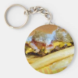 Porte-clés Cheeseburger et fritures
