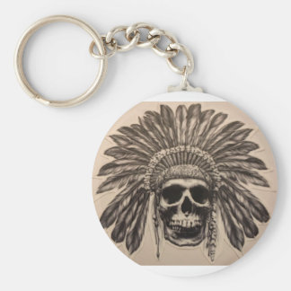 Porte-clés Chef de crâne de Natif américain (indien)