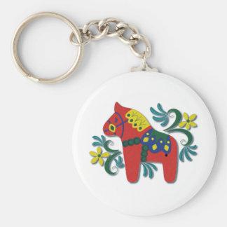 Porte-clés Cheval coloré de Dala de Suédois