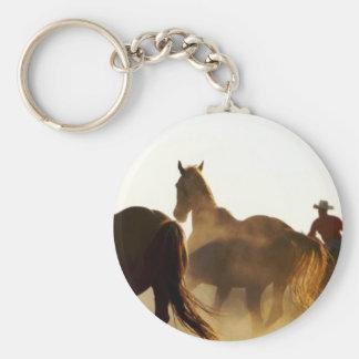 Porte-clés cheval de lasso de cowboy