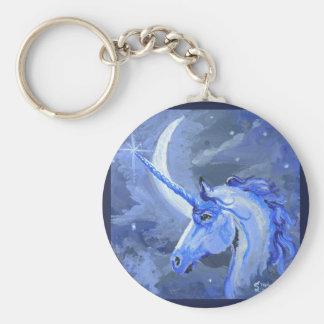 Porte-clés Cheval de licorne de lune bleue, poney, Pegasus,