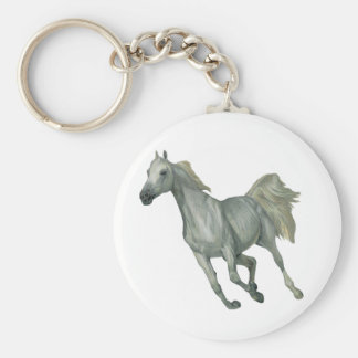 Porte-clés Cheval gris courant