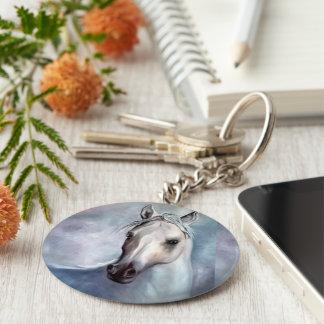 Porte-clés cheval perle