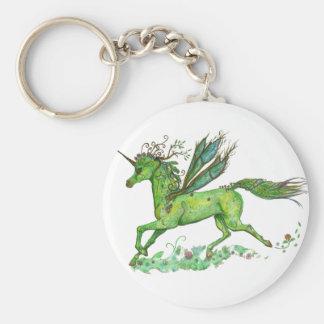 Porte-clés Cheval vert de Pegacorn Pegasus de licorne de