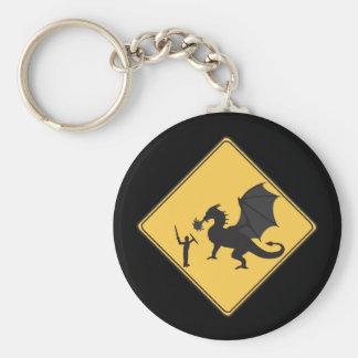 Porte-clés Chevalier de signe de route et porte - clé de