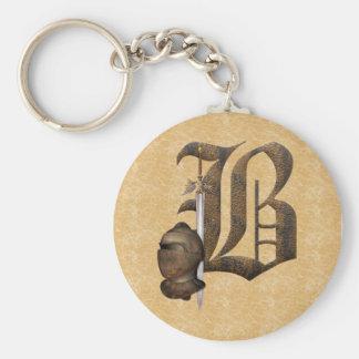 Porte-clés Chevaliers rouillés B initial